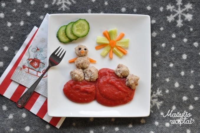 Kalakutienos maltinukai su bulvių-burokėlių koše
