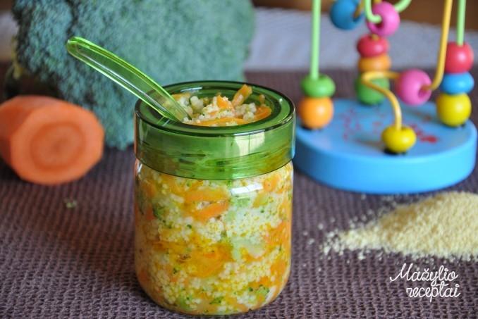 Kuskuso kruopos su daržovėmis