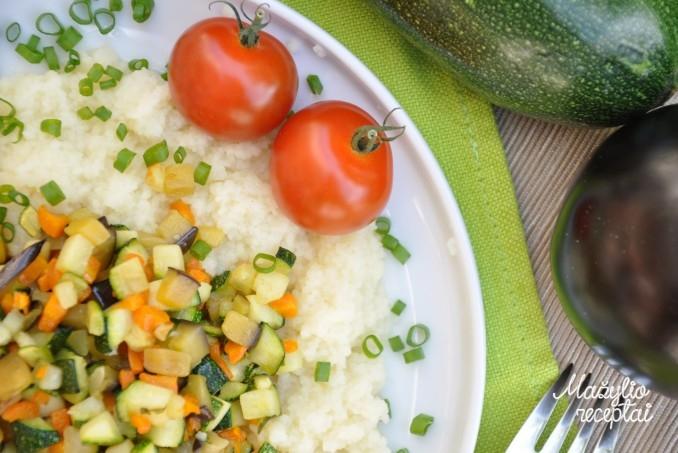 Kuskusas su daržovėmis