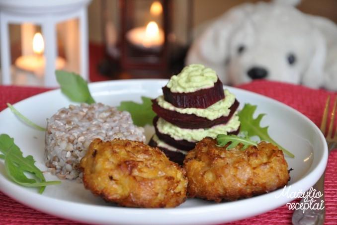 Mėsos maltinukai keksiukų formos
