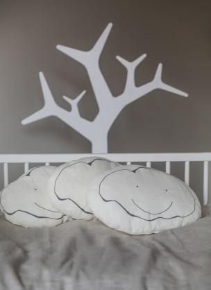 Lininė pagalvėlė kūdikiams su kamšalu
