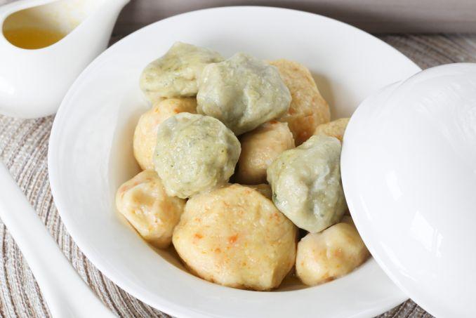Bulvių kukulaičiai su varške arba mėsa