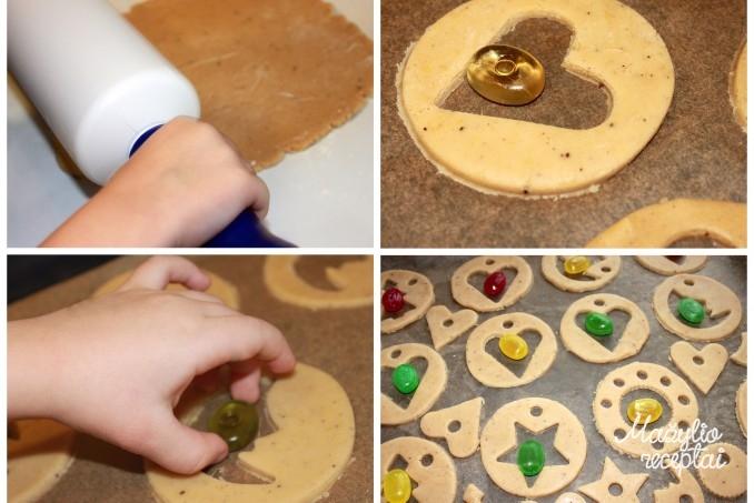 Imbieriniai vitražiniai sausainiai