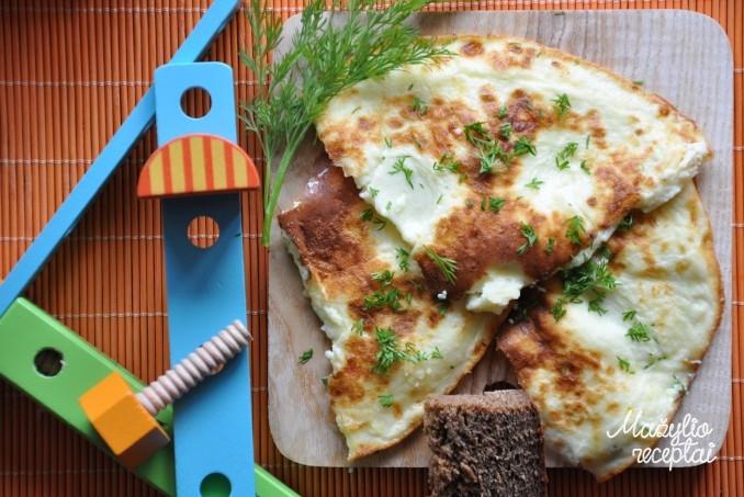 Purus omletas su varške