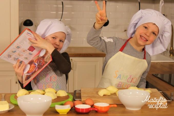 Virtuvėje šeimininkauja vaikai