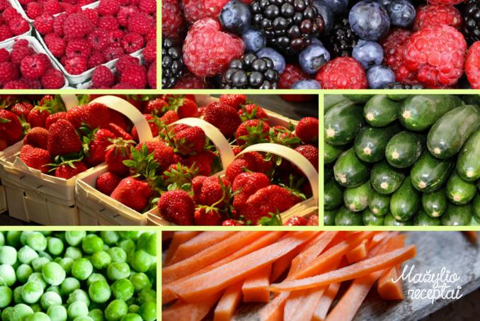 Patarimai kaip teisingai šaldyti vaisius, uogas ir daržoves. Jei primaitinti pradėsite žiemą, daržovėmis, vaisiais ir uogomis reiktų pasirūpinti iš anksto.